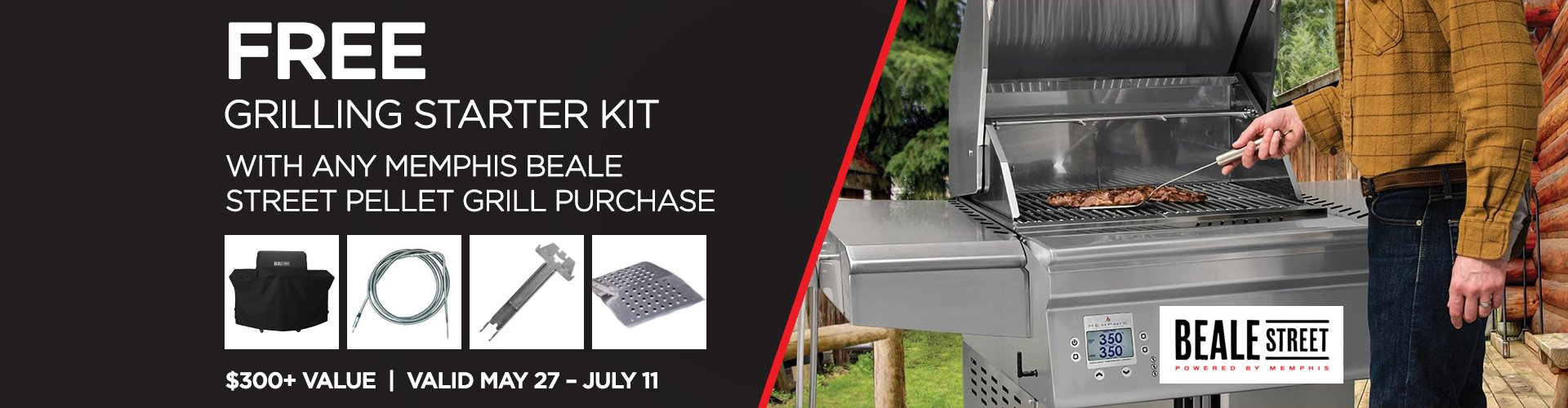 Receive a FREE Grilling Starter Kit with any Memphis Beale Street Pellet Grill Purchase